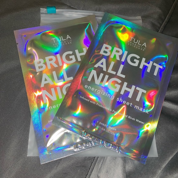 Tula Other - 🆕 TULA set of 2 Bright All Night face sheet masks
